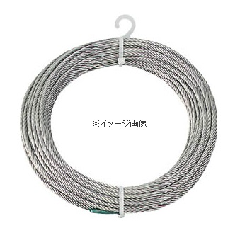 TRUSCO/トラスコ中山(株) ステンレスワイヤロープ Φ6.0mmX30m CWS-6S30