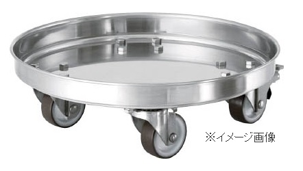 日東 タンク運搬用ステンレス台車 SUSウレタン車 適用サイズ47・47H KMS-47