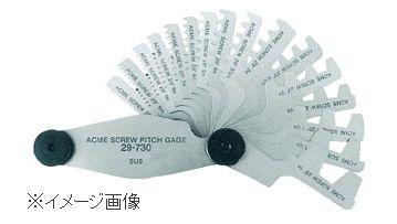 TRUSCO/トラスコ中山(株) アクメスクリューピッチゲージ 測定範囲1-12山 16枚組 29-730