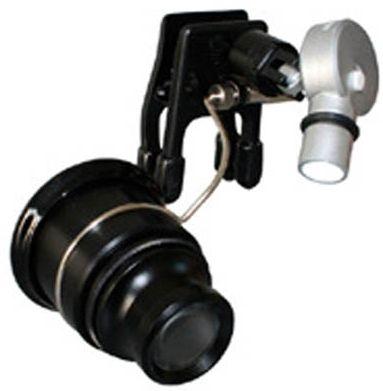 京葉光器/リーフ クリップライト付アイルーペ CPE-100LED