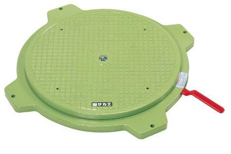 【代引き不可】【時間指定・日祝着不可】SAKAE/サカエ クルクル回転盤・樹脂製 標準タイプ 均等耐荷重150kg ハンドストッパー付 PS-36