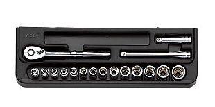 KTC/京都機械工具(株)6.3sq.ソケットレンチセット[17点]TB214