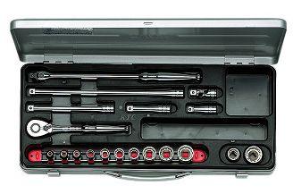 KTC/京都機械工具(株)9.5sq.ソケットレンチセット[19点]TB312X