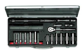 KTC/京都機械工具(株)9.5sq.ディープソケットレンチセット[17点]TB3L11X