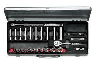 KTC/京都機械工具(株)9.5sq.ソケットレンチセット[26点]TB3X20