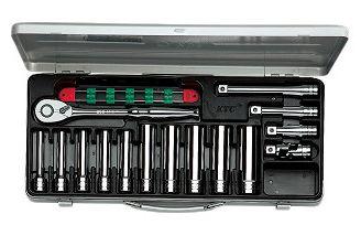 KTC/京都機械工具(株) 12.7sq.ディープソケットレンチセット[15点]TB4L10X
