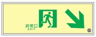 緑十字/(株)日本緑十字社 高輝度蓄光通路誘導標識 110×310×7mm SUC-K020 379020