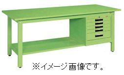 【代引き不可】【時間指定・日祝着不可】SAKAE/サカエ 軽量作業台KKタイプ SVEキャビネット付 1500×750×740mm 組立式 KK-59SSVE5