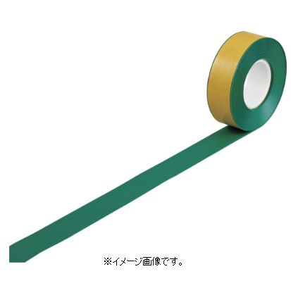 緑十字/日本緑十字社 高耐久ラインテープ 緑 50mm幅×10m 両端テーパー構造 屋内用 JU-510G 403072