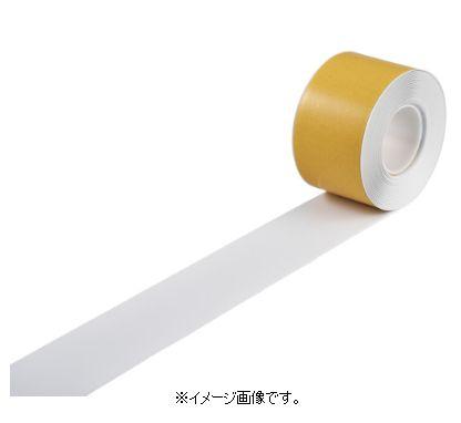 緑十字/日本緑十字社 高耐久ラインテープ 白 100mm幅×10m 両端テーパー構造 屋内用 JU-1010W 403081