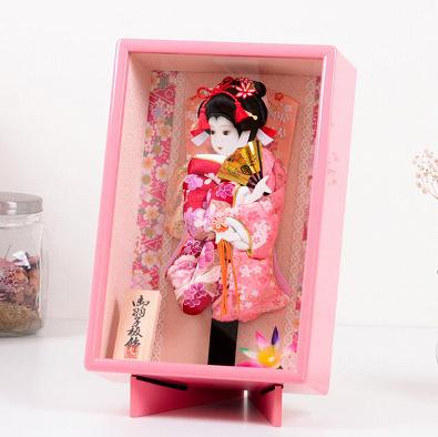 羽子板 ケース入り8号 友禅 ピンク額入り 壁掛け 正月飾り 送料無料