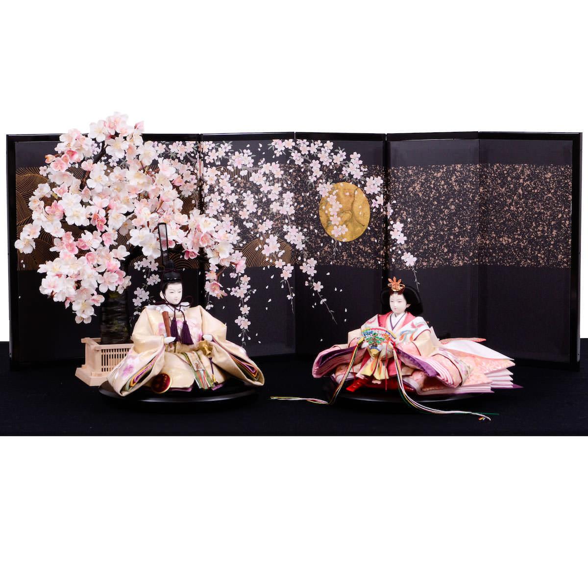 雛人形 三五 親王飾り 新刺繍 小倉草園 送料無料