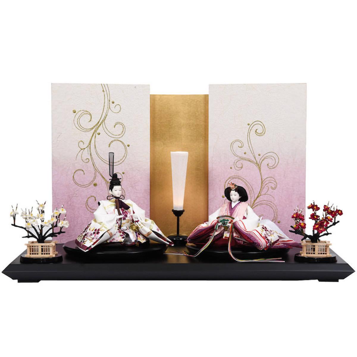 雛人形 紫園刺繍 三五 親王飾り 田村芙紗彦 送料無料