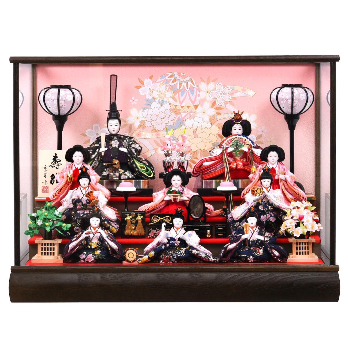雛人形 芥子 ケース入十人飾り 五人囃子 京屋 送料無料