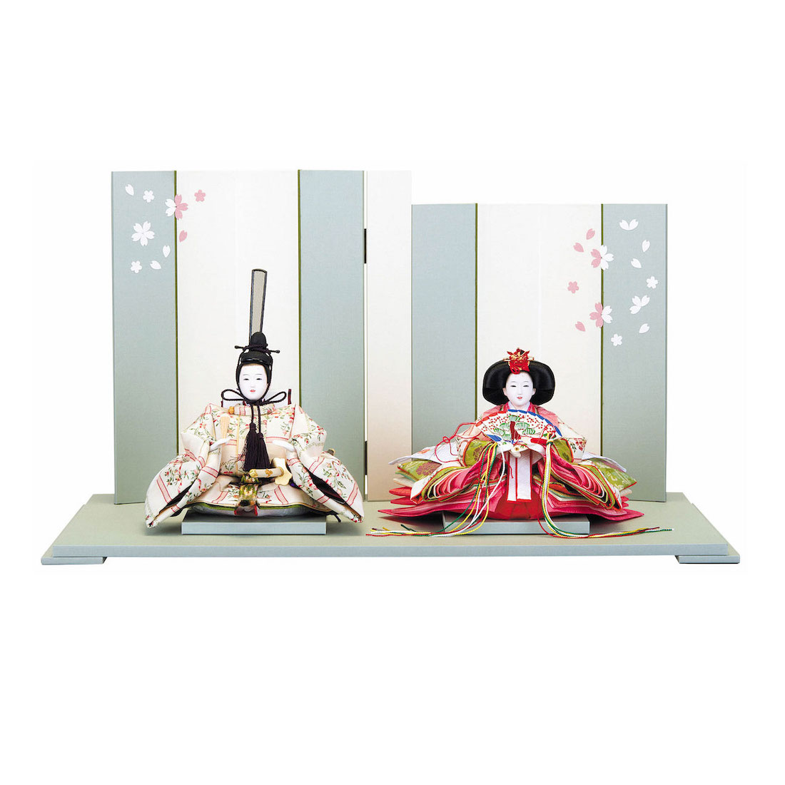 雛人形 小芥子 親王飾り コンパクト 送料無料