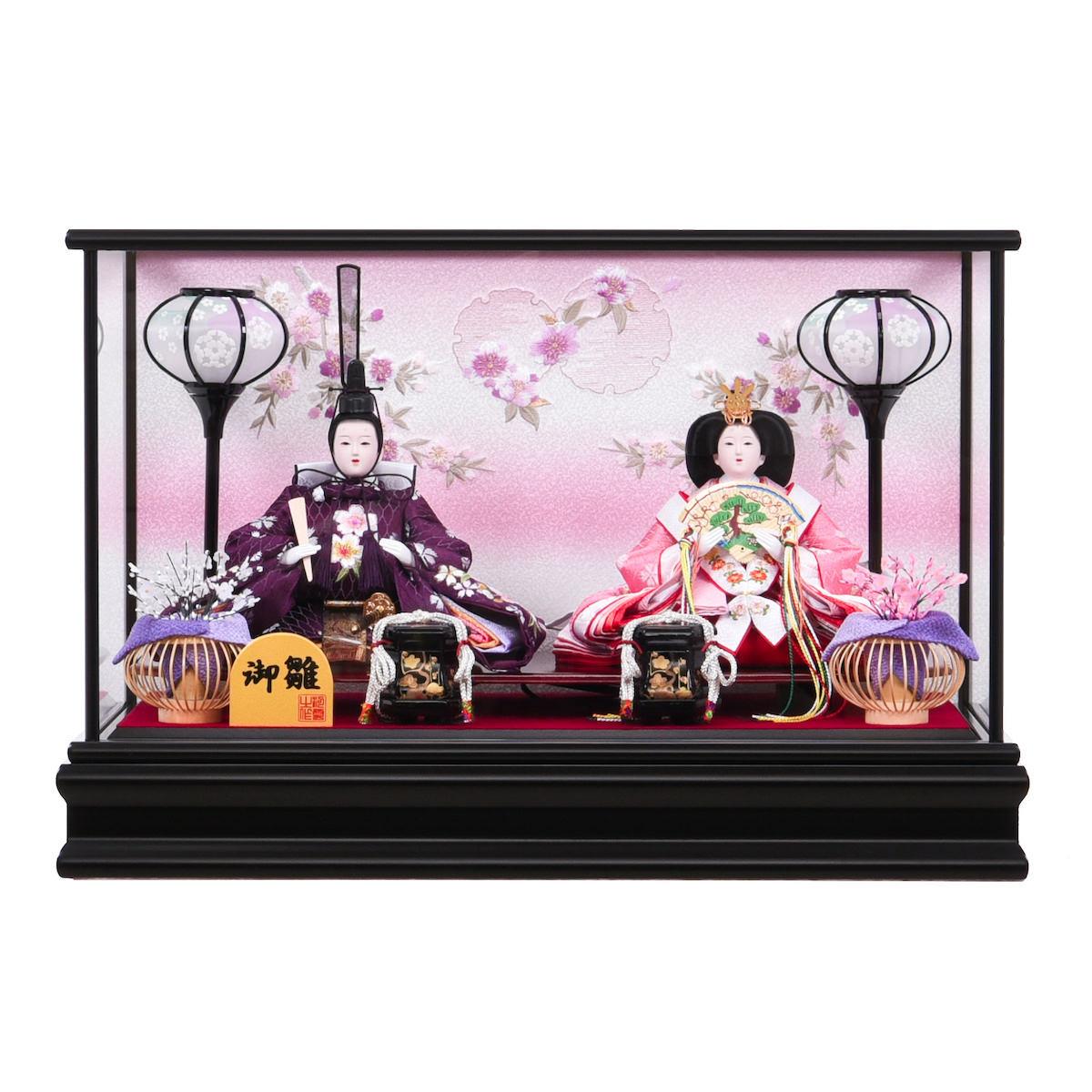 雛人形 三五 ケース入親王飾り 送料無料