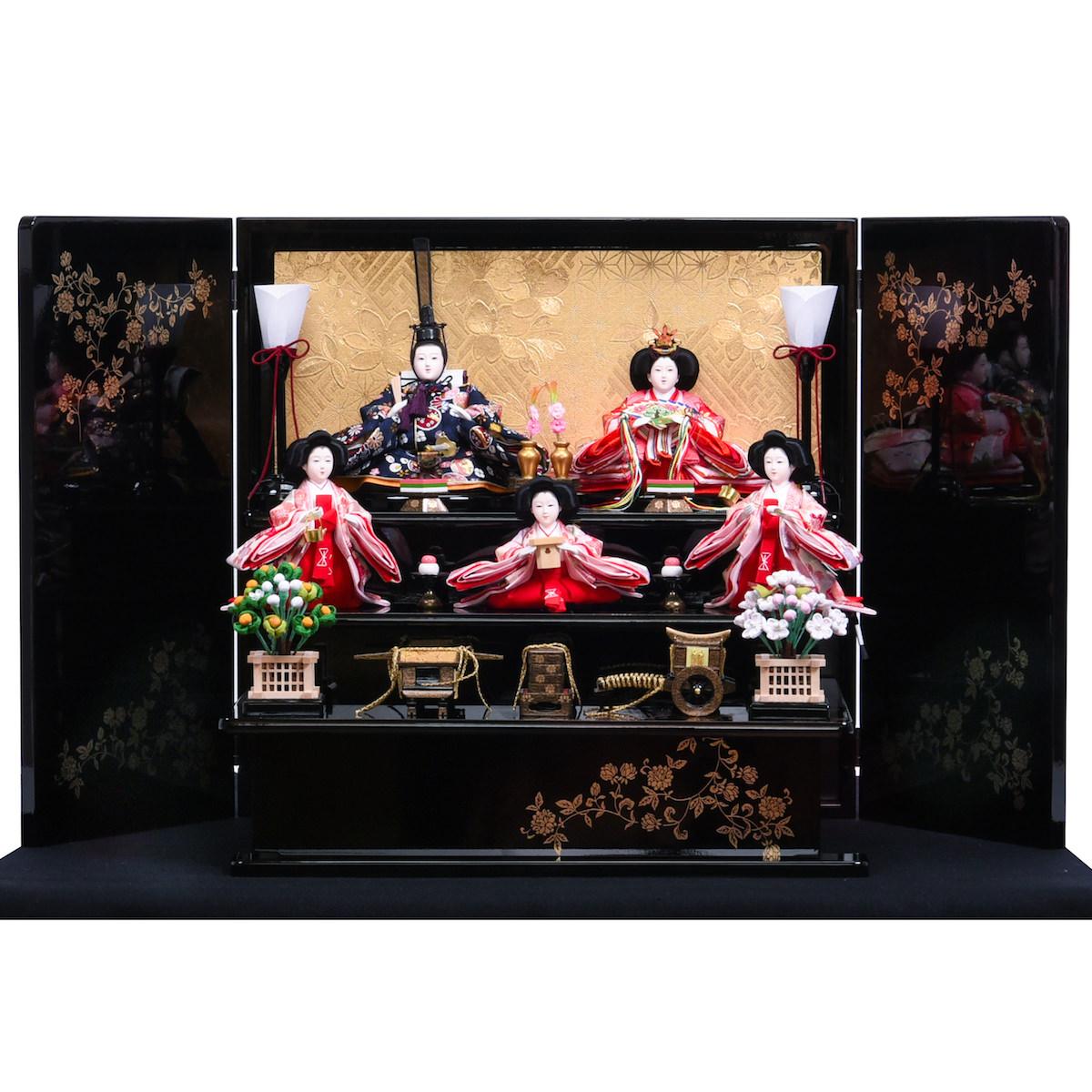 雛人形 芥子 簡単収納 小型収納 五人飾 送料無料