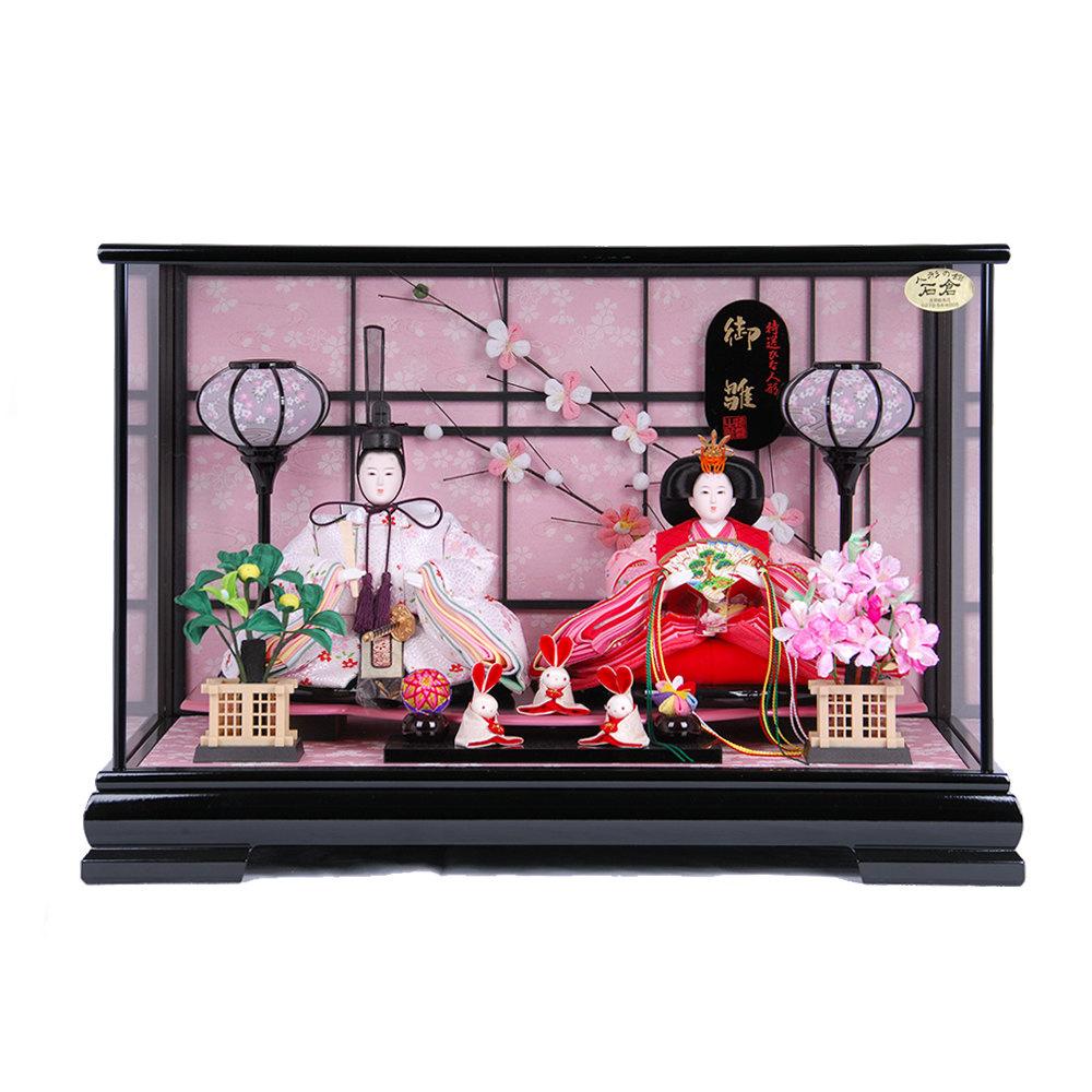 雛人形 三五 ケース入親王飾り 『うさぎ官女』 送料無料