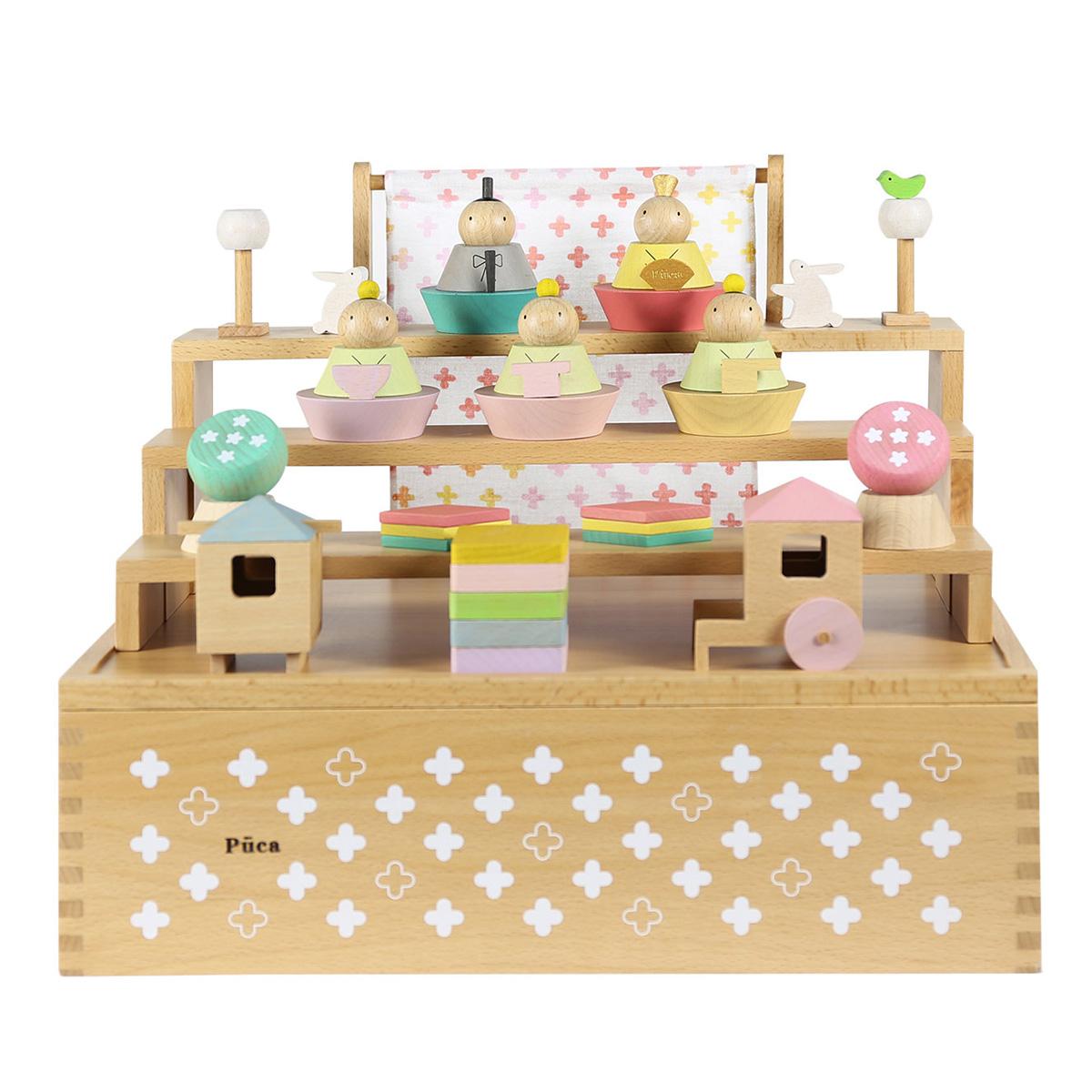 Puca HAKO 積み木 木製 雛人形 プーカのひな人形収納箱 送料無料