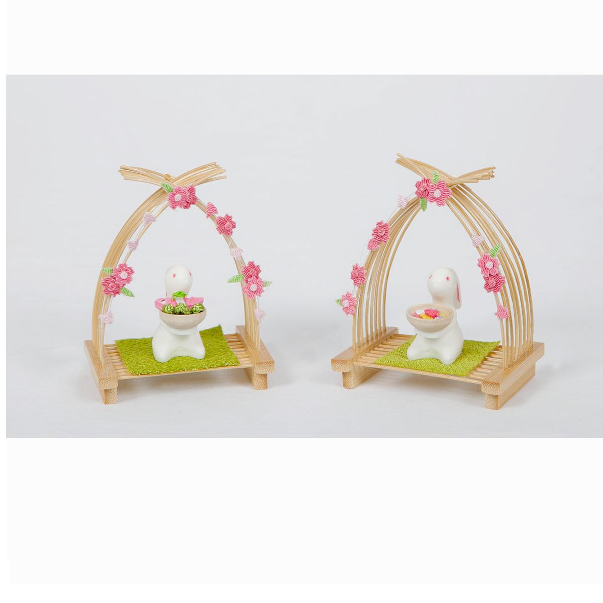 雛人形 お道具 単品 ウサギ ごちそう 花 送料無料