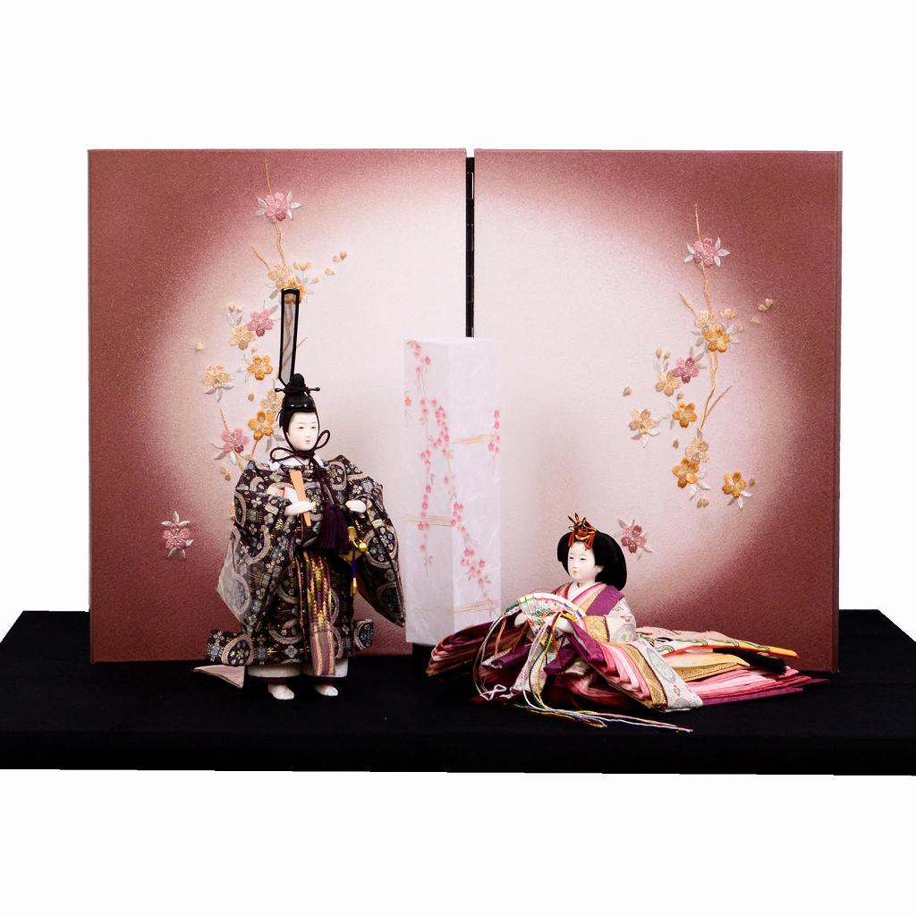 雛人形 立ち殿 座り姫 平安優香 送料無料