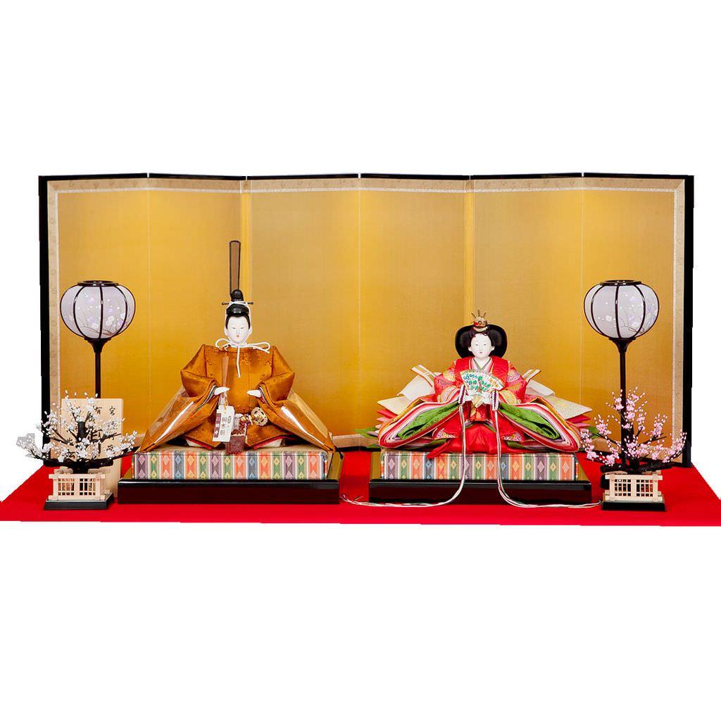 雛人形 十番 京九 親王飾り 黄櫨染御袍 小出松寿 藤沢瑞馨 送料無料