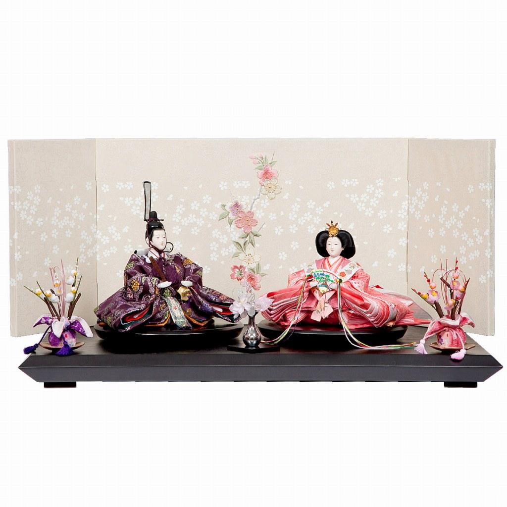 雛人形 三五 親王飾り 金襴 梛葉