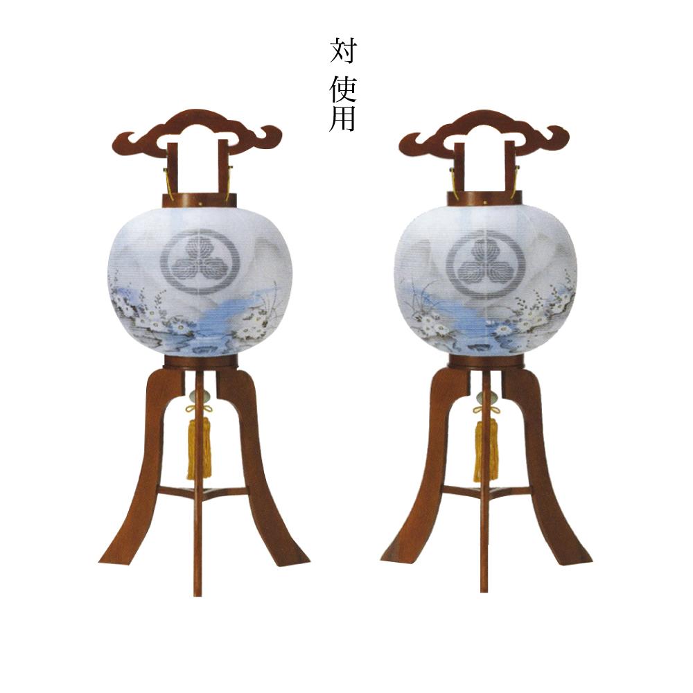 ちょうちん 行灯 家紋入り 特10号藤崎けやき 対使用 絹二重張 盆提灯 岐阜提灯 送料無料