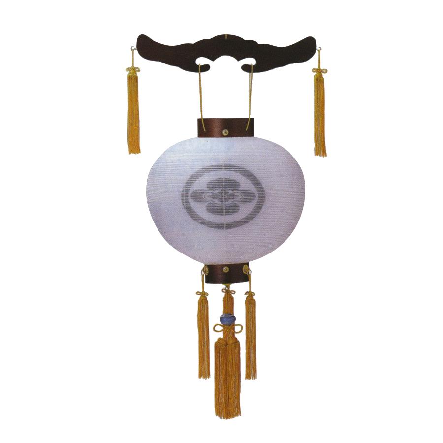 ちょうちん 吊り提灯 家紋入り 尺三丸紫檀 絹二重張 盆提灯 岐阜提灯 送料無料