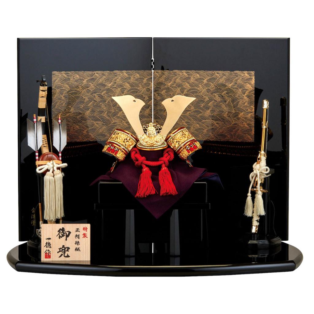 五月節句 男の子 五月人形 兜飾り 赤糸威 一徳作 送料無料