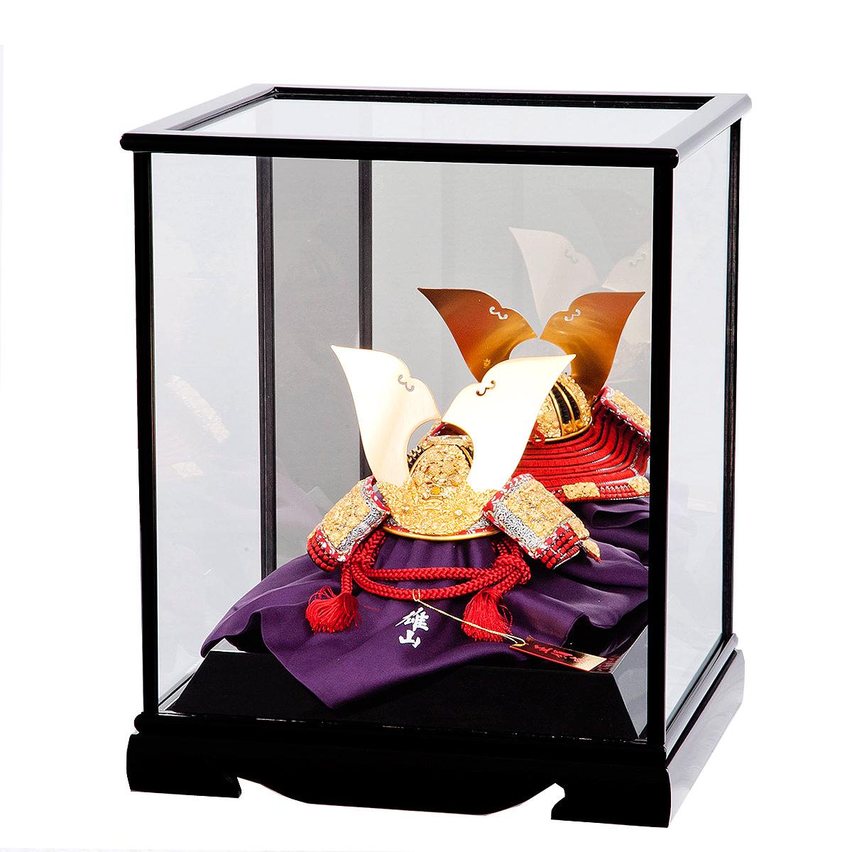 五月節句 男の子 五月人形 兜飾り 1/5号 櫛引八幡宮 菊一文字兜飾り 雄山作 格安 送料無料