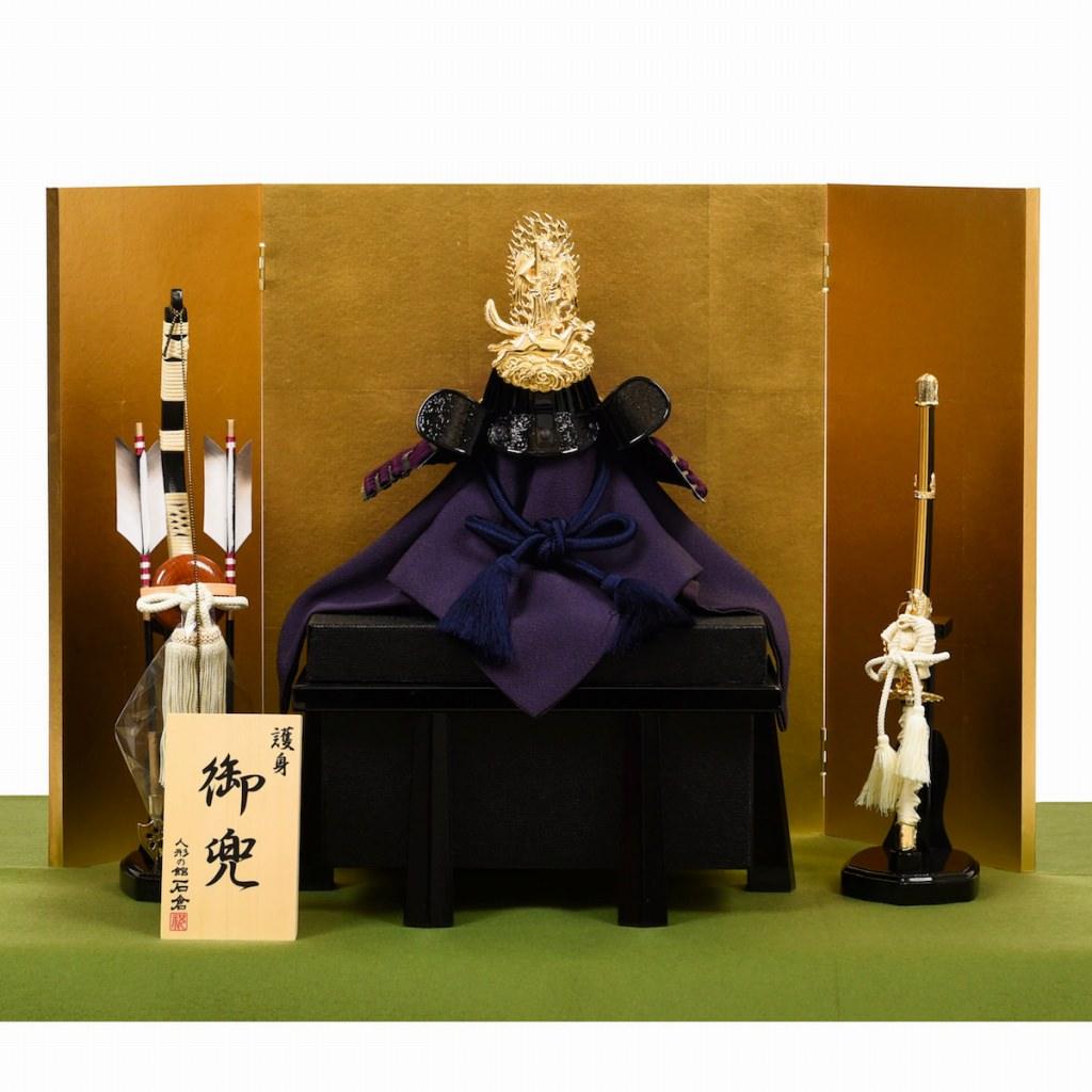 五月節句 男の子 五月人形 兜飾り 上杉謙信 飯綱権現 大越忠保作 送料無料