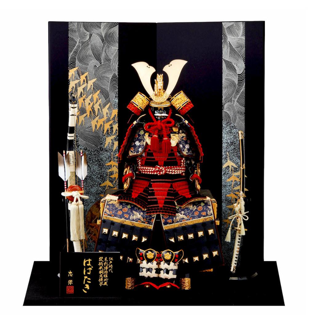五月節句 男の子 五月人形 鎧飾り 10号 はばたき 大越忠保 送料無料