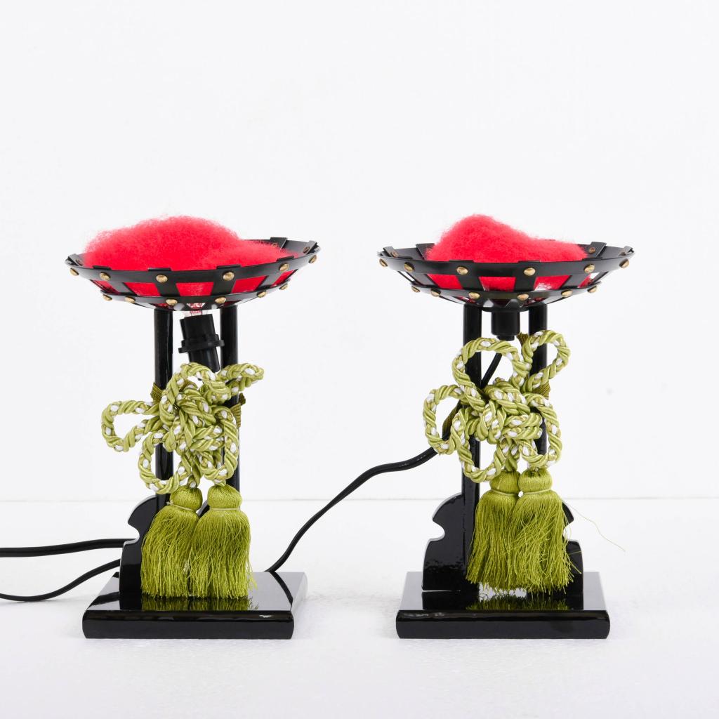 五月人形 お道具単品 かがり火 高さ20cm 【送料無料】【展示特価品】