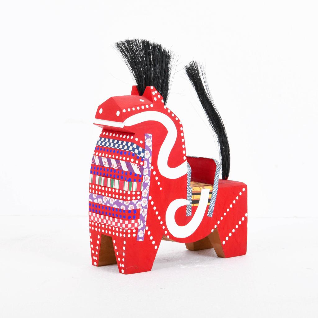 創作人形 木彫り チャグチャグ馬っ子 大【送料無料】【展示特価品】