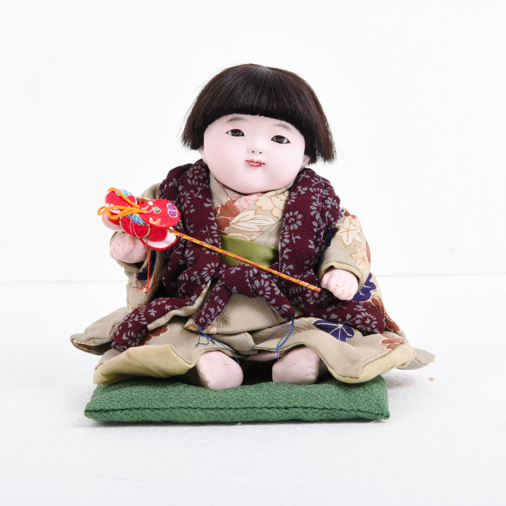 市松人形 おさな人形 男の子(小) でんでん太鼓付き 松乾斎東光作 送料無料