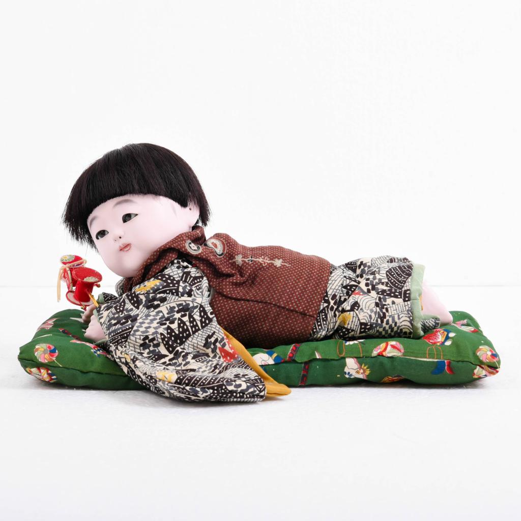 市松人形 這い子人形 男の子(中) 松乾斎東光作 アウトレット【送料無料】【展示特価品】