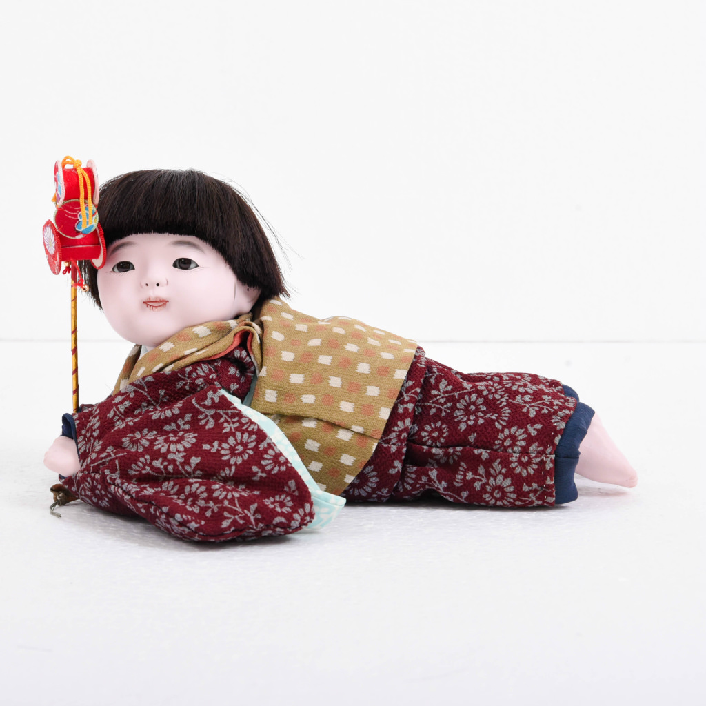 市松人形 這い子人形 男の子(小) 松乾斎東光作 アウトレット【送料無料】【展示特価品】