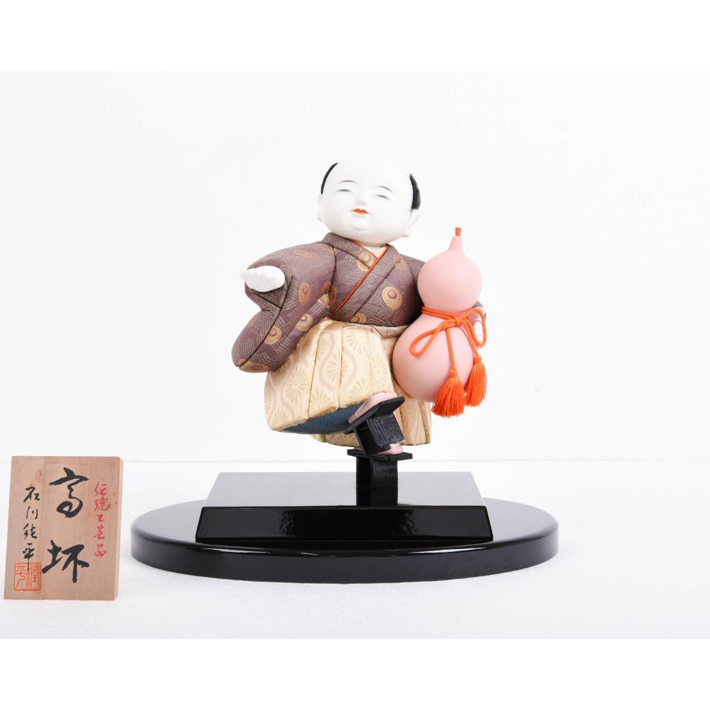 木目込人形 高杯 石川潤平作 アウトレット【送料無料】【展示特価品】