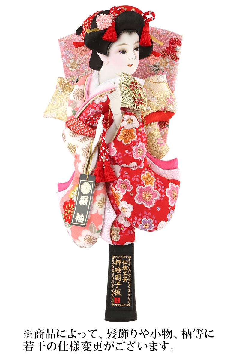 羽子板 単品 撫子姫 金襴 10号 塗り櫛 【2019年度新作】 h311-mm-036k-10