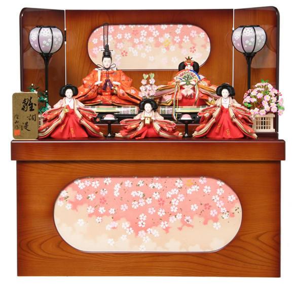 雛人形 ひな人形 小さい 雛人形 雛 コンパクト収納飾り 五人飾り 雛 名匠・逸品飾り 雛爛漫 49ss1394 【2019年度新作】