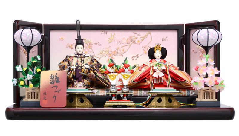 雛人形 ひな人形 雛人形 雛 親王飾り 雛 平飾り 雛つづり 雅泉 h253-fz-43gt235 【2018年度新作】