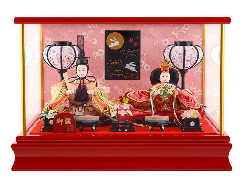 雛人形 ひな人形 小さい コンパクト 雛人形 雛 ケース飾り 雛 親王飾り 御雛 オルゴール付 h243-mi-ks-s779 【2019年度新作】