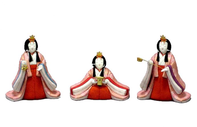 雛人形 特選 幸一光 ひな人形 雛 木目込人形飾り 官女単品 官女セット 中 人形のみ 正絹 【2019年度新作】 h313-koi-4132