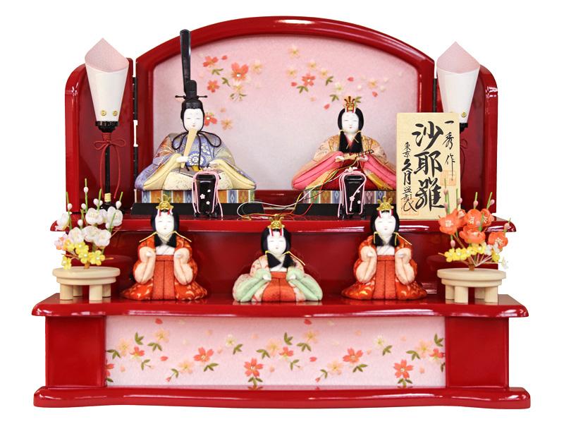 雛人形 特選 久月 ひな人形 雛 木目込人形飾り 段飾り 五人飾り 一秀作 沙耶雛 【2019年度新作】 h313-k-39689