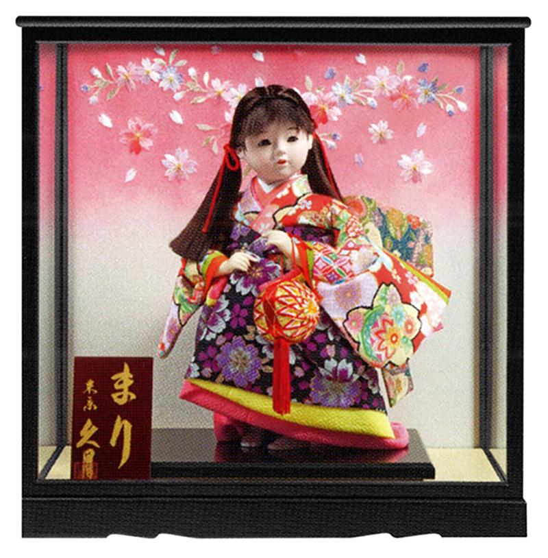 雛人形 特選 久月 ひな人形 雛 浮世人形 ケース飾り 福印8 虹 まりA 【2019年度新作】 h313-k-fuku8-ni-253 K-131