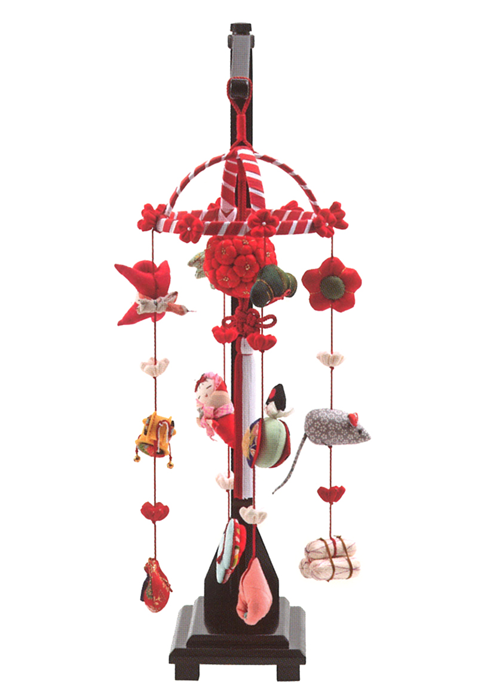 雛人形 久月 ひな人形 雛 つるし飾り つるし雛 さげもん 卓上型 正絹 スタンド付 【2018年度新作】 h303-k-krn-2 K-140