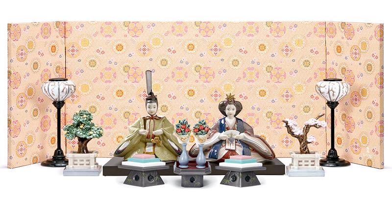 リヤドロ 雛人形 特選 Lladro ひな人形 雛 平飾り 親王飾り フルセット 【2019年度新作】 h313-01009373-FS