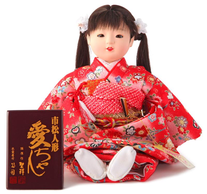 雛人形 ひな人形 雛 市松人形 童人形 人形単品 熊倉聖祥原作 着付公司 愛ちゃん 【2019年度新作】 mi-kj-80120-za-30b-f