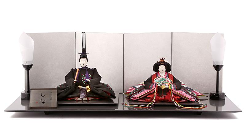 雛人形 ひな人形 雛 親王飾り 雛 平飾り 雛 名匠・逸品飾り 雛人形 清水久遊作 ひな 正絹 三五親王 シルバー台セット お雛様 おひなさま mi-kuyu-hiina-b おしゃれ かわいい 人形屋ホンポ